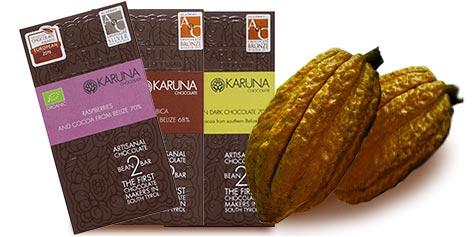 Karuna Schokolade aus Südtirol