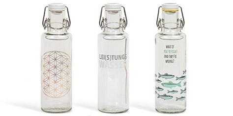 Trinkflaschen aus Glas mit Bügelverschluss