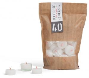 Teelichter, 40 Stück