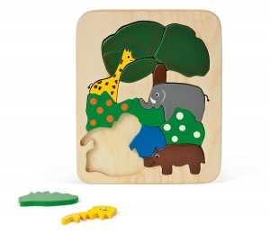 Holzpuzzle Zoo