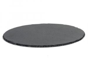 Servierplatte Schiefer, rund