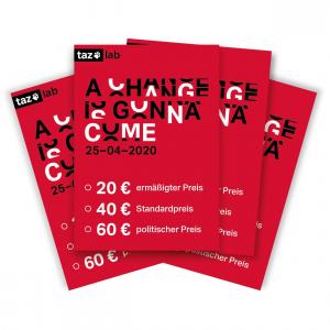 Karte taz lab 2020 - 60 Euro