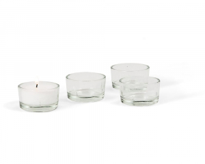 4 Teelichthalter, klassisch