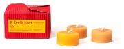 Bienenwachs-Teelichter (rot)