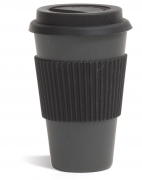 Bambusbecher black, 0,33 l