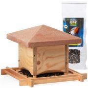 Vogelfutterhäuschen Toskana und Bio-Vogelfutter