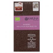 Karuna Schokolade mit Himbeeren