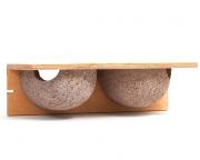 Doppelnistkasten für Mehlschwalben aus Holzbeton
